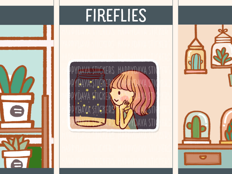 HF173: Girl watching fireflies