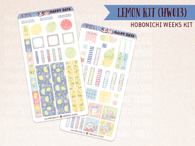 "HW013 - Hobonichi Weeks ""Lemon"" kit"