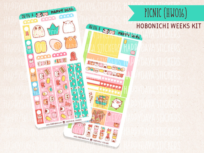 "HW016 - Hobonichi Weeks ""Picnic"" kit"