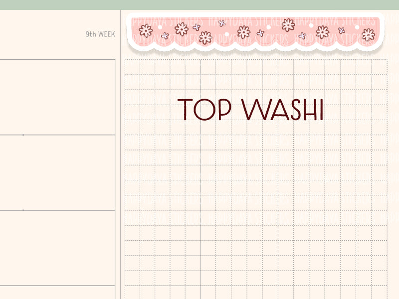 HWF004: Bunny top washi