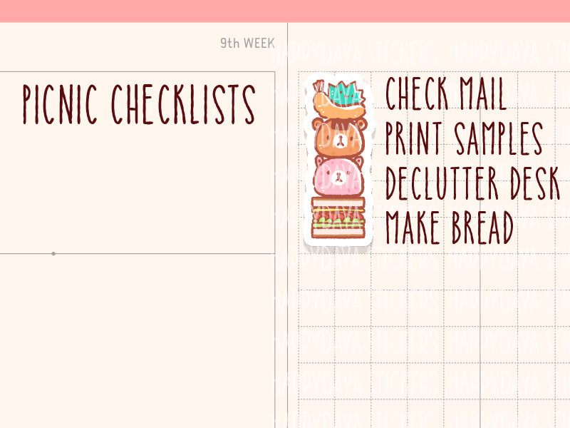HWF041: Picnic checklists