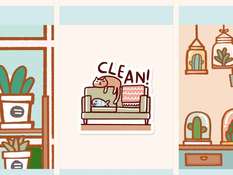 IN003: Clean living room