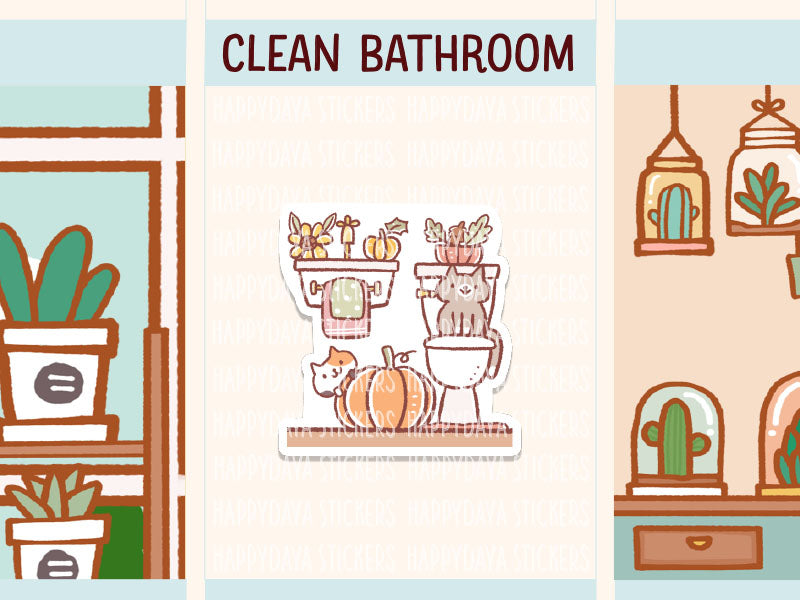 IN016: Fall - Clean bathroom