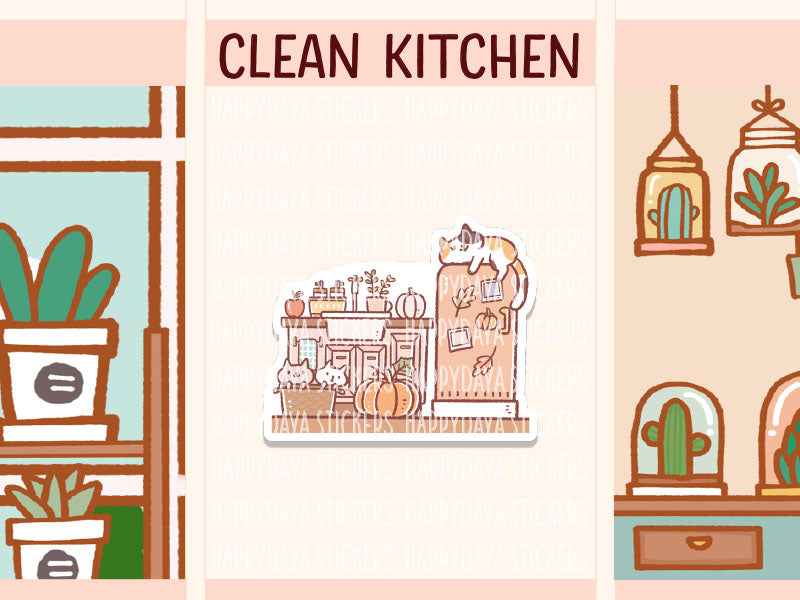 IN018: Fall - Clean kitchen