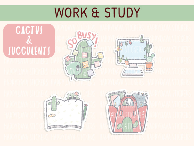 KIT001 (Cactus & succulents) : Work and study (sheet 4)