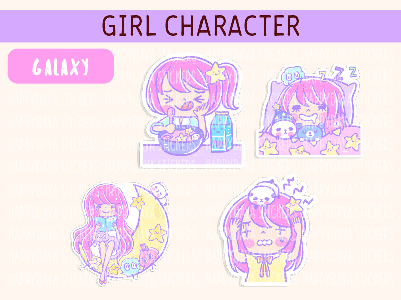 KIT002 (Galaxy) : Girl character (sheet 6)