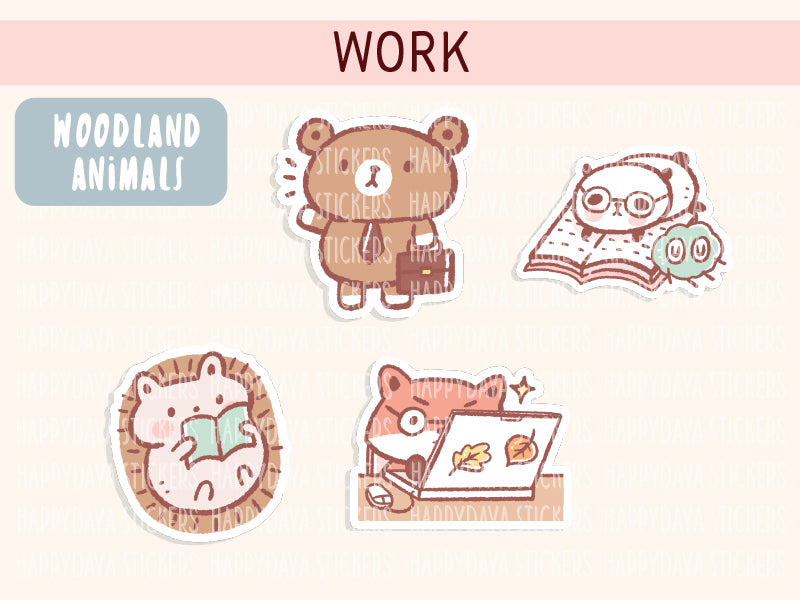 KIT003 (Woodland animals) : Work (sheet 4)