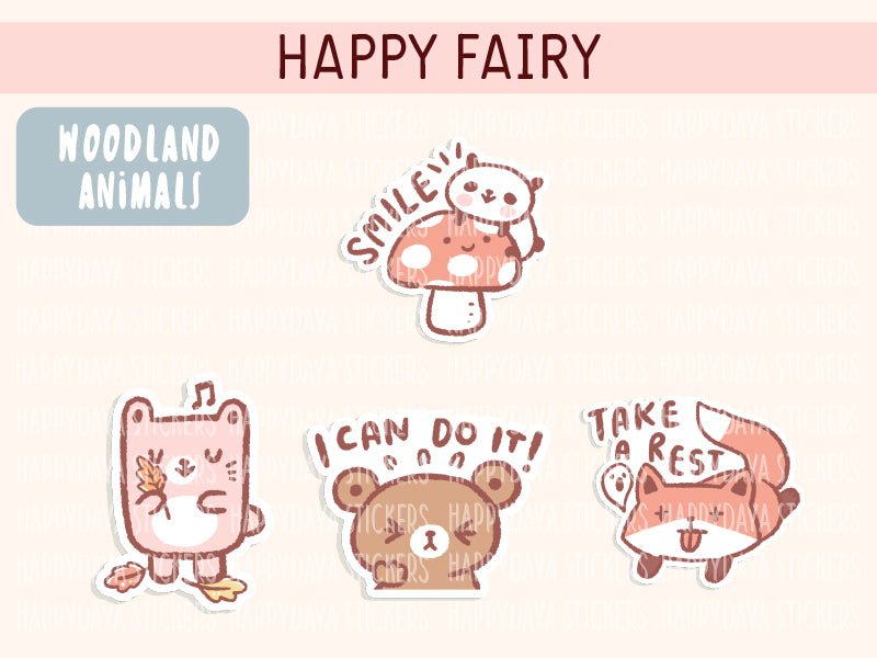 KIT003 (Woodland animals) : Happy Fairy (sheet 5)