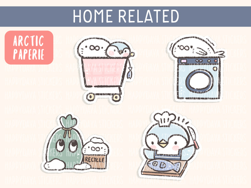 KIT004 (Arctic paperie) : Home related stickers (sheet 5)