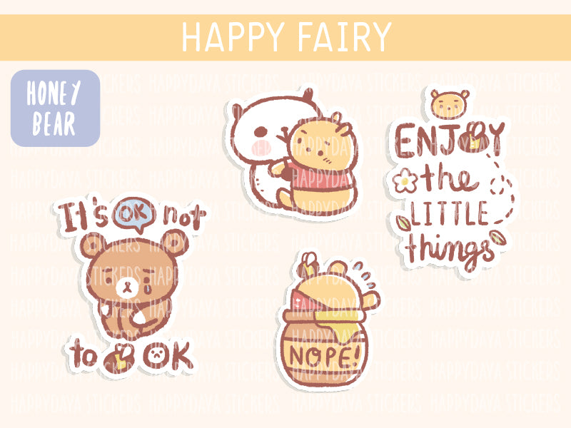 KIT005 (Honey bear) : Happy Fairy (sheet 4)