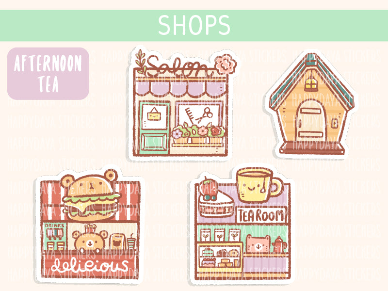 KIT006 (Afternoon tea) : Shops (sheet 8)
