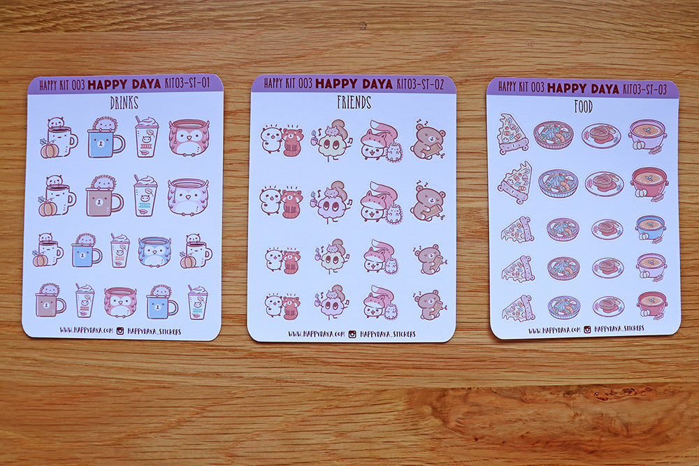 2 SHEETS OF ASSORTED SIZE TEDDY TIME  STICKERS
