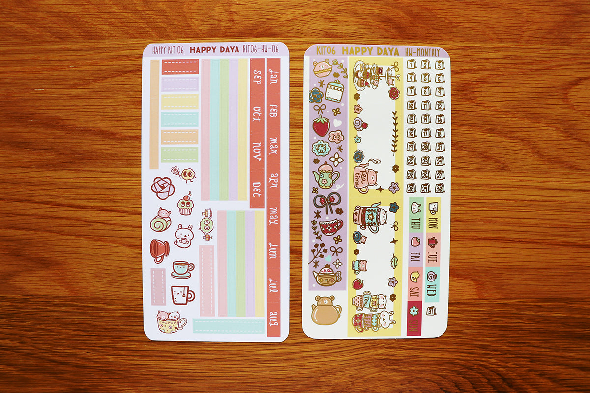 KIT006 (Afternoon tea) : Hobonichi Weeks kit (Monthly view)