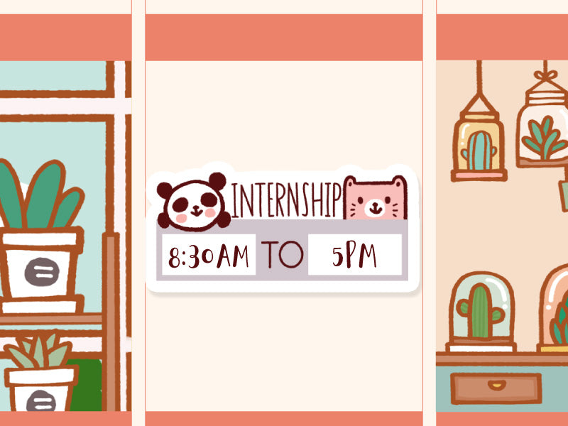 MS040: Internship sticker