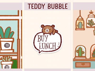 MS077: Teddy - Bubble chatbox