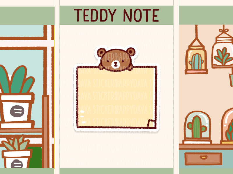 MS078: Teddy - Note sticker