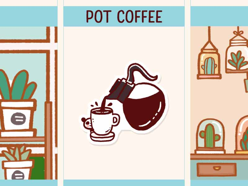 PD063: Pot coffee