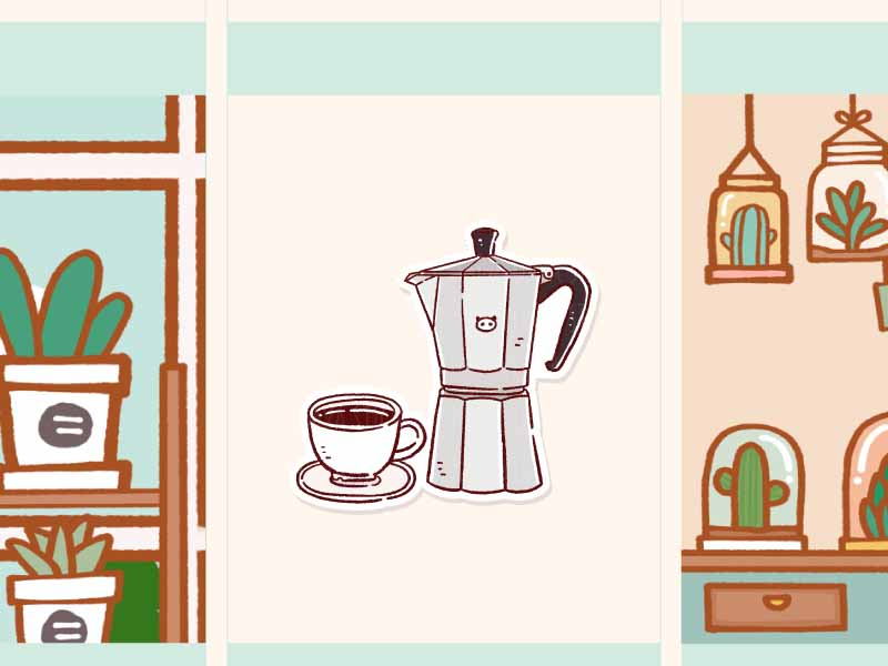PD083: Moka pot (Italian coffee maker) Espresso