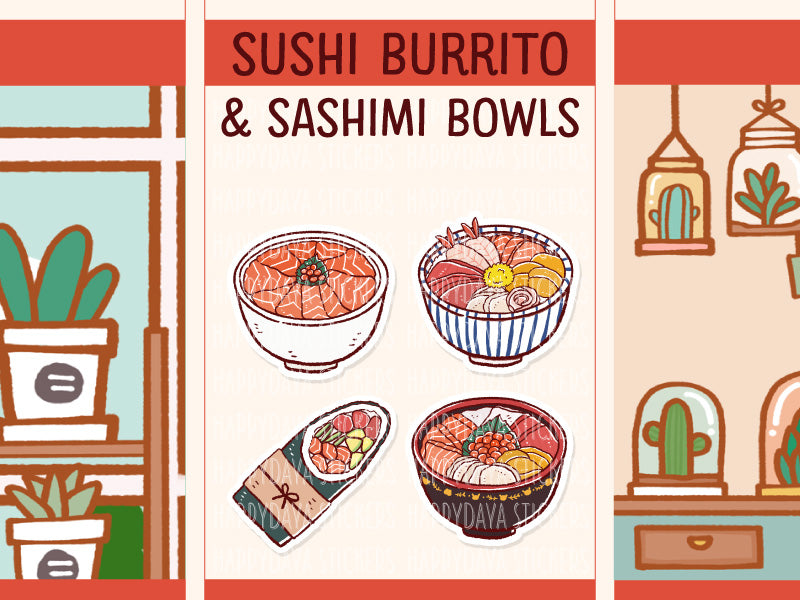PD089: Sushi burrito and sashimi bowl