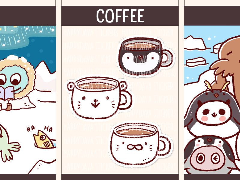 PD093: Arctic animals coffee