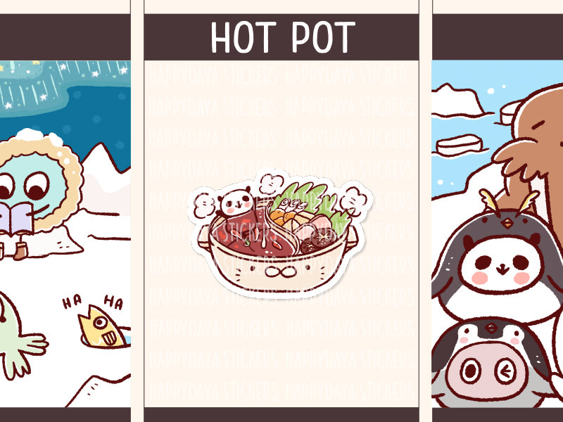 PD094: Arctic animals hot pot / sukiyaki