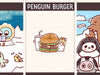PD095: Arctic animals hamburger set