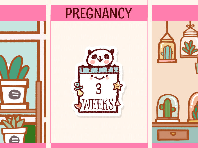 PM035: Pregnancy calendar / note sticker