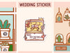 PM038: Wedding tracker, to do or appointment sticker