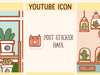 PM044: YouTube icon sticker