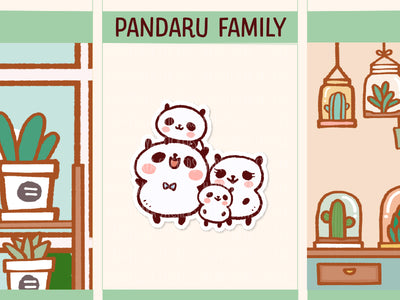 PM053: Panda family (2 children)