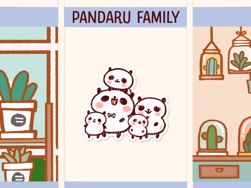 PM054: Panda family (3 children)