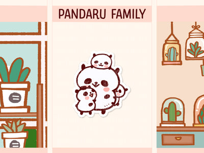 PM060: Panda family (Super mom with 3 children)