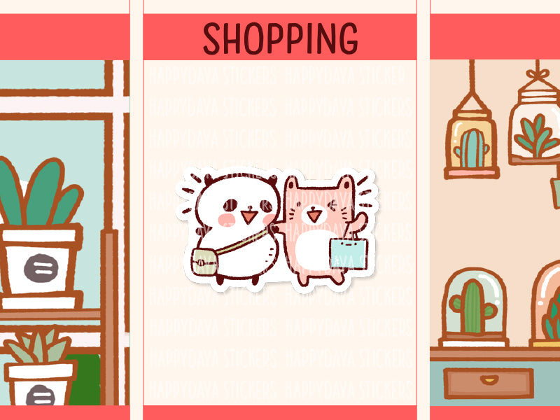 PM064: Pandaru and Mamu shopping