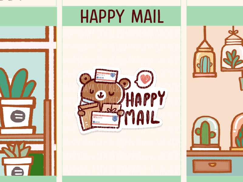 PM074: Teddy - Happy mail