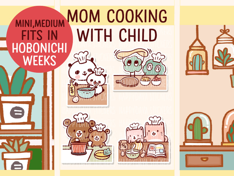 PM078: Mom cooking with child