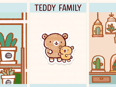 PM094: Teddy family (Super mom with 1 child)