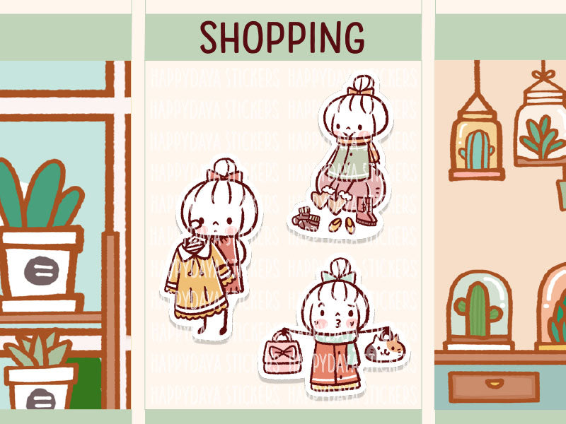 RAIN003: Shopping fashion set