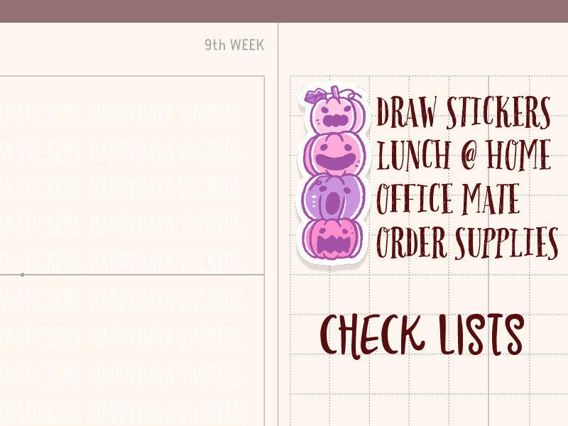 SS036: Halloween 2019 - Hobonichi Weeks checklists