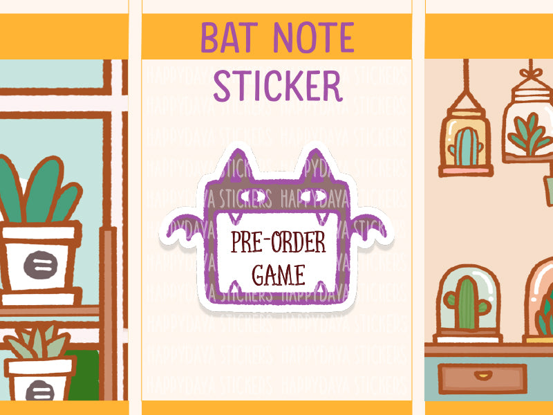 SS043: Halloween 2019 - Bat box sticker