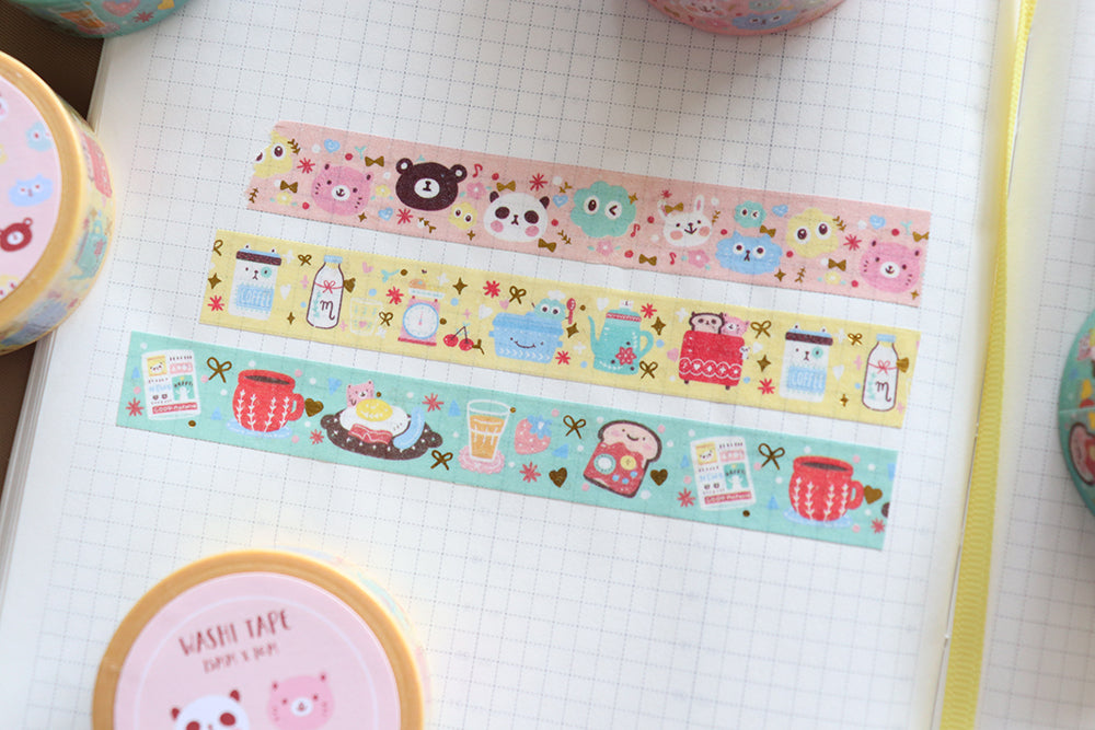 2 Year shop anniversary a la carte: Breakfast washi tapes collection