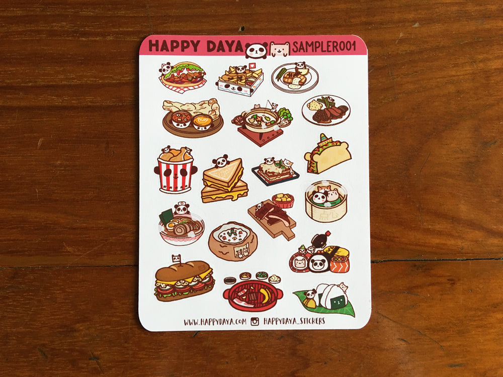 SAMPLER001: Food stickers (meal)