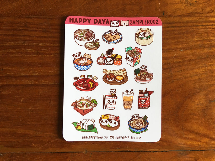 SAMPLER002: Asian food stickers