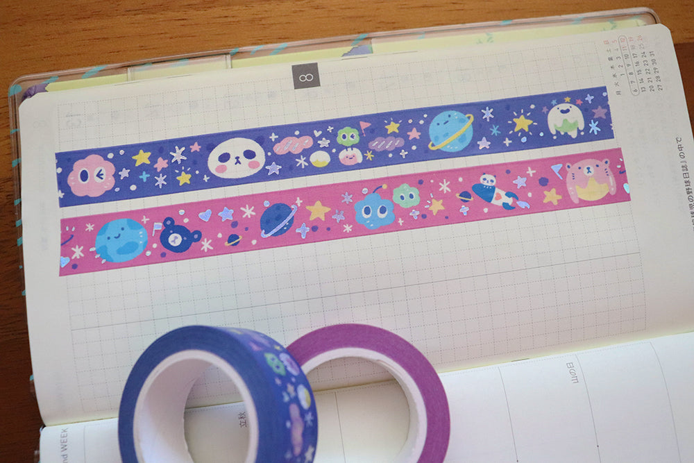 KIT002 (Galaxy) : Washi tapes set (2 rolls)