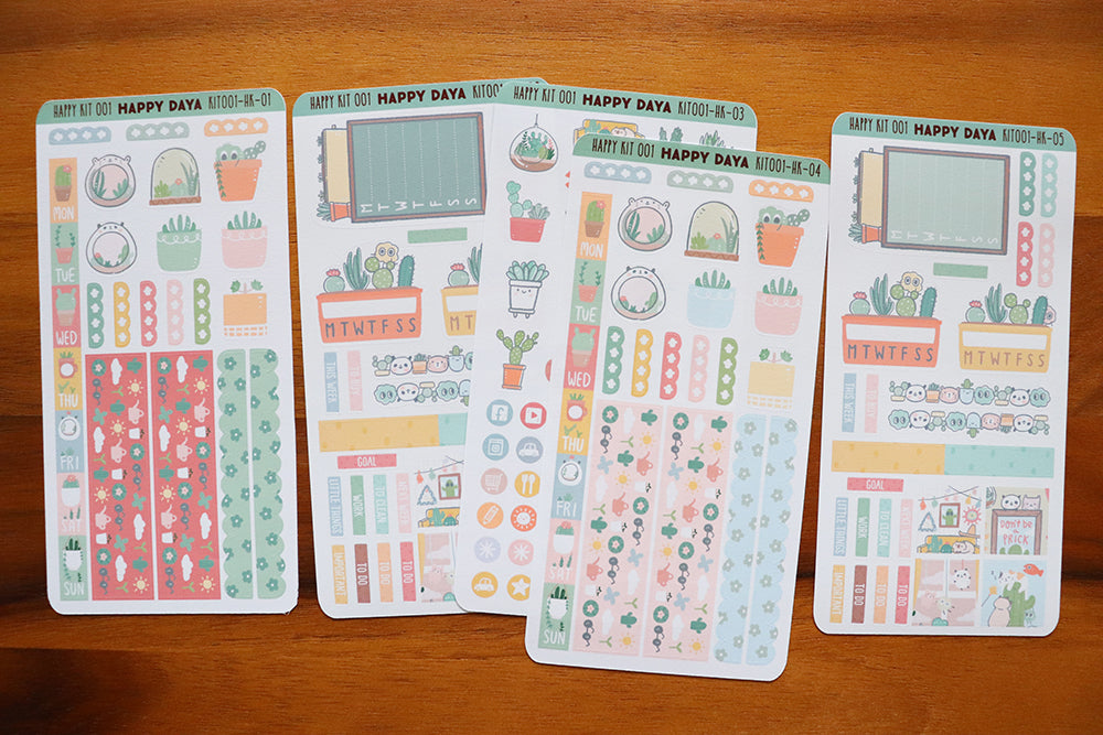 KIT001 (Cactus & succulents) : Hobonichi Weeks kit