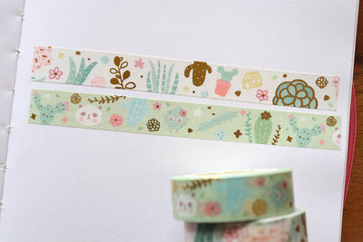 KIT001 (Cactus & succulents) : Sticker kit (washi tapes included)