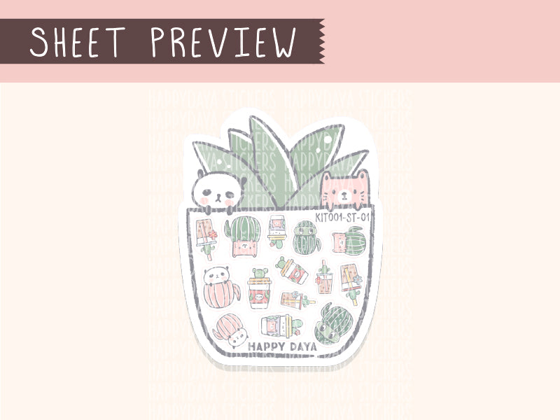 KIT001 (Cactus & succulents) : Birthday (sheet 2)