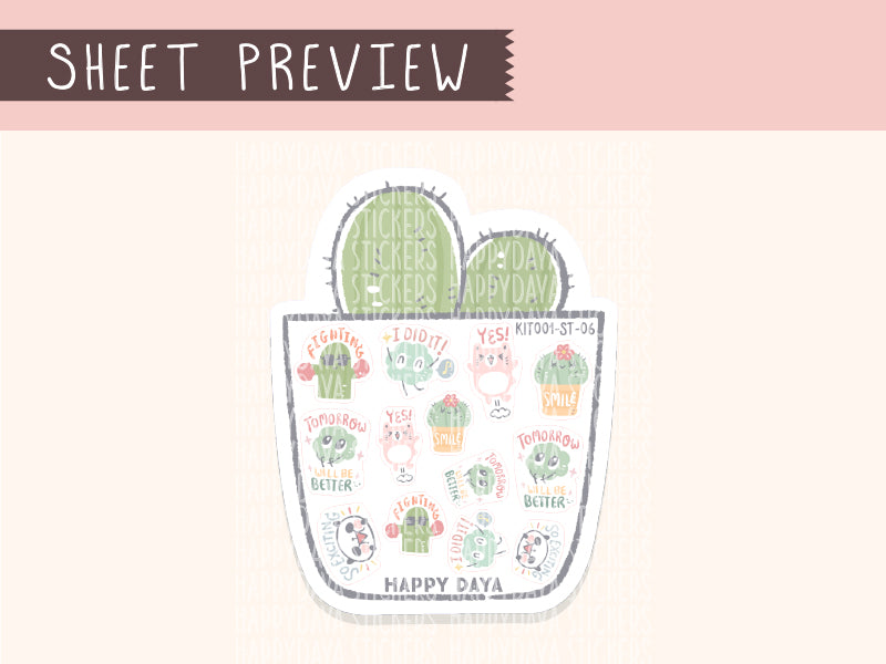 KIT001 (Cactus & succulents) : Happy Fairy (sheet 6)
