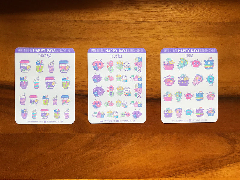 KIT002 (Galaxy) : Stickers (individual sheets)
