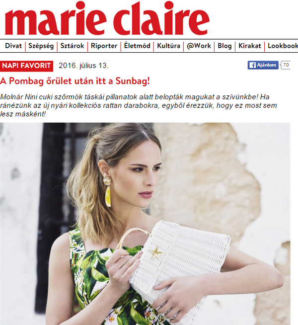 Sunbag in Marie Claire Daily Favorite