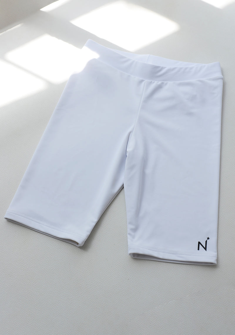 White N Star Biker Short